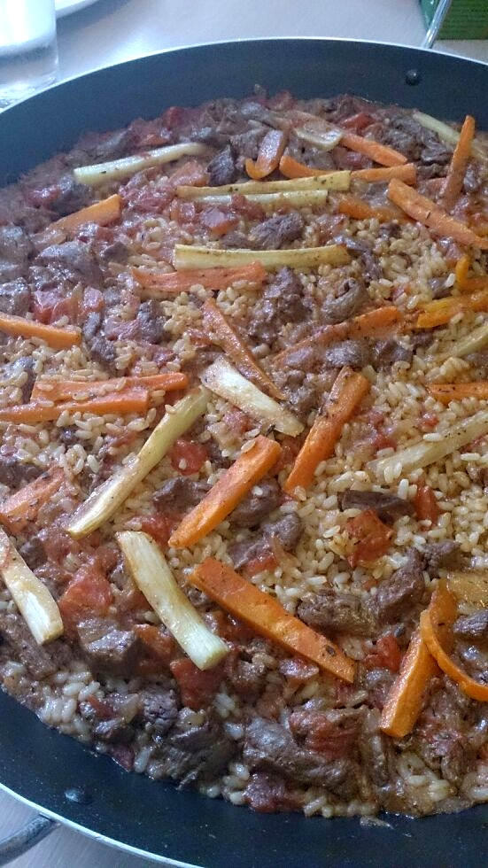 Jambalaya ovvero carne di cavallo in umido con riso e verdure ...