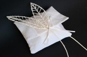 bustina in cotone e lino bianco naturale